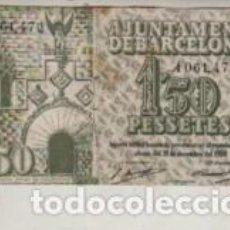 Billetes locales: BILLETE LOCAL L' AJUNTAMENT DE BARCELONA 30 D SETEMBRE DEL 1937 - 1,50 PTAS. Lote 262034360
