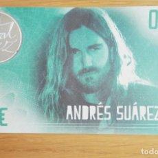 Billetes locales: BILLETE 0,5€ *PÚAS*FESTIVAL DE LA LUZ **BOIMORTO** 2018. ANDRÉS SUÁREZ; AGORAPHOBIA. Lote 262067715