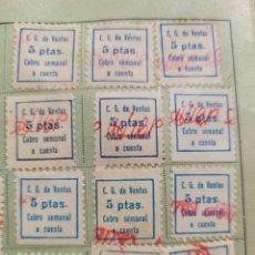 Billetes locales: COMERCIAL GERUNDENSE. CARTILLA CON CUPONES DE 5PTAS . 1951. POSTGUERRA. Lote 262134370
