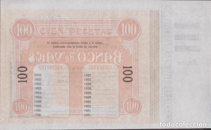 Billetes locales: BILLETES LOCALES - BANCO DE VALLS - TARRAGONA - 100 PESETAS 1-1-1922 (SC-) - Foto 2 - 265689104