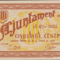 Billetes locales: BILLETES LOCALES - SEU D´URGELL - LLEIDA - 50 CÉNTIMS 1937 - T-2752A (SC). Lote 265691079