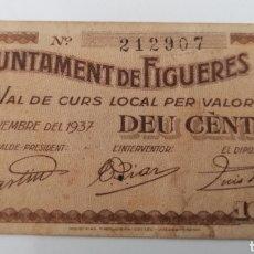 Billetes locales: FIGUERES. GIRONA. AJUNTAMENT. 10 CENTIMS. Lote 269804273