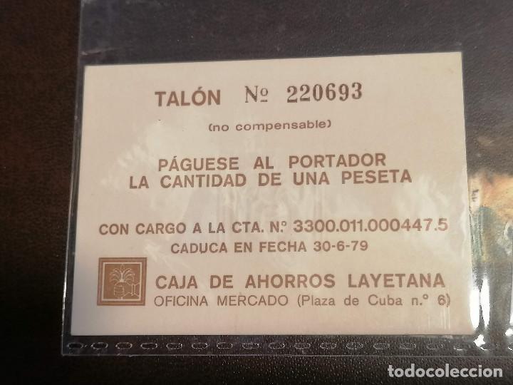 BILLETE ESPAÑA CAIXA LAIETANA 1 PESETA AÑO 1979 NUEVO PERFECTO SC (Numismática - Notafilia - Billetes Locales)