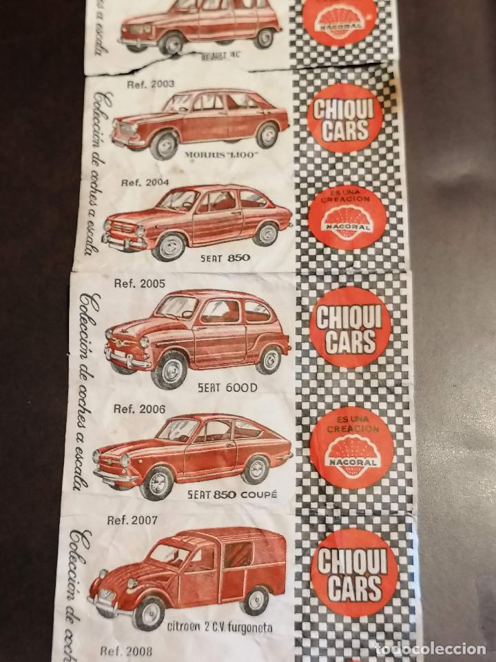 CROMOS CHIQUI CARS COCHES (Numismática - Notafilia - Billetes Locales)