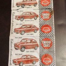 Billetes locales: CROMOS CHIQUI CARS COCHES. Lote 271370168