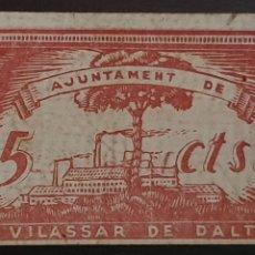 Billetes locales: BILLETE DE VILASSAR DE DALT - 5 CÉNTIMOS - 1937.. Lote 277237453