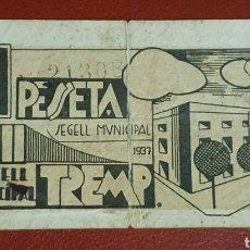 Billetes locales: BILLETE DE 1 PESETA DEL CONSELL MUNICIPAL DE TREMP DEL AÑO 1937. Lote 278841978