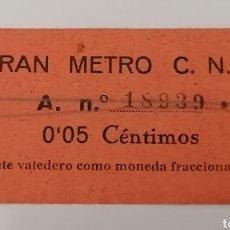 Billetes locales: BARCELONA. GRAN METRO CNT. 5 CÉNTIMOS. Lote 288229168