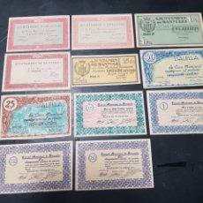 Billetes locales: BILLETES LOCALES BILLETE LOCAL GIRONELLA BANYOLES ALELLA Y MAS GRAN LOTE DE 11 GRANDISIMO ESTADO. Lote 289458608