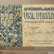 Billetes locales: BILLETE LOCAL MAYO 1937 BARCELONA 1 PESETA 60X101. Lote 290766848