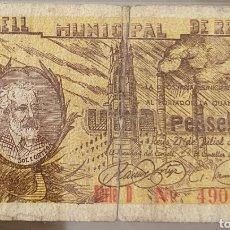 Billetes locales: BILLETE LOCAL JULIO 1937 REUS 1 PESETA. Lote 290767978