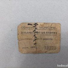 Billetes locales: BILLETE LOCAL DE EXTREMADURA DE 1 PESETA DE ZALAMEA DE LA SERENA, AÑO 1937, GUERRA CIVIL. Lote 292219603