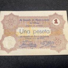 Billetes locales: VILLENA 1 PTA VALENCIA. Lote 292235938
