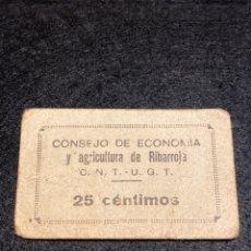 Billetes locales: RIBARROJA VALENCIA 25 CTS. Lote 292237308