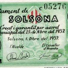 Banconote locali: UNA PESETA AJUNTAMENT DE SOLSONA ( BLO16 ). Lote 295716433