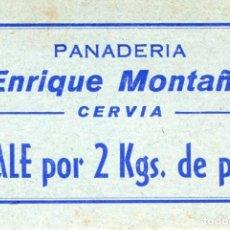 Banconote locali: VALE DE 2 KG. DE PAN . PANADERIA ENRIQUE MONTAÑA . CERVIA ( BLO21 ). Lote 295717593