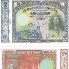 Lotes de Billetes: 1000 PESETAS - 15/08/1928 - FACSIMIL IMPRESO POR LA REAL CASA DE LA MONEDA Y TIMBRE -. Lote 152239966