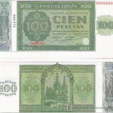 Lotes de Billetes: 100 PESETAS - 21/11/1936 - FACSIMIL IMPRESO POR LA REAL CASA DE LA MONEDA Y TIMBRE -. Lote 206507678