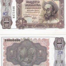 Lotes de Billetes: 1 PESETA - 19/11/1951 - FACSIMIL IMPRESO POR LA REAL CASA DE LA MONEDA Y TIMBRE -. Lote 206507718