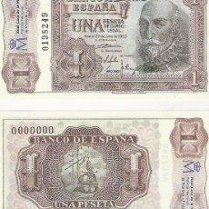 Lotes de Billetes: 1 PESETA - 22/07/1953 - FACSIMIL IMPRESO POR LA REAL CASA DE LA MONEDA Y TIMBRE -. Lote 206507703