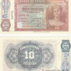 Lotes de Billetes: 10 PESETA - EMISION 1935 - FACSIMIL IMPRESO POR LA REAL CASA DE LA MONEDA Y TIMBRE -. Lote 206508037