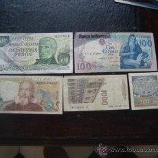 Lotes de Billetes: LOTE 5 BILLETES , 500 PESOS ARGENTINOS, 100 ESCUDOS PORTUGAL, 1000, 2000 Y 2000 LIRAS ITALIA. Lote 33298628