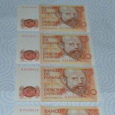 Lotes de Billetes: CUATRO BILLETES CORRELATIVOS DE DOSCIENTAS PESETAS DEL 16 DE SEPTIEMBRE DE 1.980. Lote 33382915