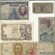Lotes de Billetes: LOTE DE BILLETES ESPAÑA Y ARGENTINA CALIDAD LA QUE SE VE EN LA FOTO. Lote 33388216
