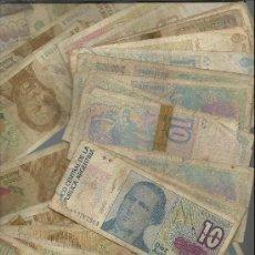 Lotes de Billetes: LOTE DE 56 BILLETES DE ARGENTINA DE 5,10,500 Y 1000 PESOS CALIDAD LA QUE SE VE EN LA FOTO . Lote 33388510