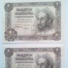 Lotes de Billetes: PAREJA DE 1 PESETA DE 1951. Lote 33539543