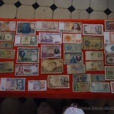 Lotes de Billetes: LOTE DE 36 BILLETES DE DISTINTOS PAISES, DE TODOS POR DELANTE Y TRASERA. Lote 35900853