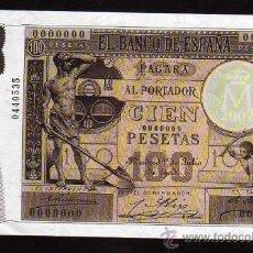 Lotes de Billetes: BILLETE DE EL PAPEL DE LA PESETA II - 100 PESETAS, 1 JULIO 1903. Lote 49881051