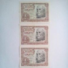 Lotes de Billetes: LOTE DE BILLETES DE 1 PESETA DE 1953. Lote 37095354