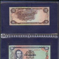 Lotes de Billetes: PRECIOSA CARPETA CON BILLETES, CONMEMORATIVA JAMAICA 1977 VER DETALLE. Lote 37785661