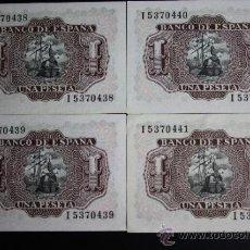 Lotes de Billetes: LOTE DE 4 BILLETES DE 1 PESETA DE 1953. SERIE I. LOS 4 EN ESTADO PLANCHA. Lote 38219711