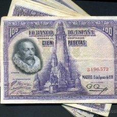 Lotes de Billetes: ATRACTIVO LOTE DE 20 BILLETES DE 100 PTAS DE 1928. Lote 131893453
