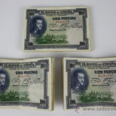 Lotes de Billetes: LOTE DE 31 BILLETES DE 100 PESETAS DE 1925 - SERIES D / E / F - DE CONSERVACIÓN. Lote 38327221