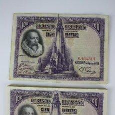 Lotes de Billetes: LOTE DE 19 BILLETES DE 100 PESETAS DE 1928 - 2 SIN SERIE - EL RESTO SERIE A - . Lote 38327304