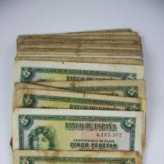 Lotes de Billetes: LOTE DE 105 BILLETES DE 5 PESETAS DE 1935 - DIVERSAS SERIES Y CONSERVACIONES - ALGUNOS SIN SERIE. Lote 38328217