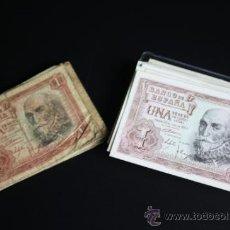 Lotes de Billetes: LOTE DE 57 BILLETES DE 1 PESETA DE 1953 - DIVERSAS SERIES Y CONSERVACIONES. Lote 38341191