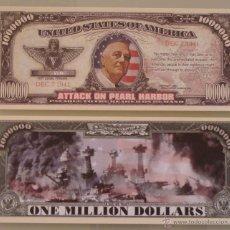 Lotes de Billetes: BILLETE EEUU CONMEMORATIVO. DÓLAR. ATAQUE A PEARL HARBOR, SEGUNDA GUERRA MUNDIAL. MILITAR.. Lote 155897444