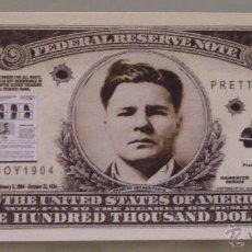 Lotes de Billetes: BILLETE EEUU CONMEMORATIVO. DÓLAR. FORAJIDOS Y GANGSTERS. OESTE. CHARLES FLOYD.. Lote 155896148