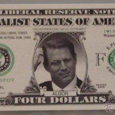 Lotes de Billetes: BILLETE EEUU CONMEMORATIVO. DÓLAR. AL GORE. POLÍTICO.. Lote 155898220