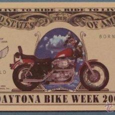 Lotes de Billetes: BILLETE EEUU CONMEMORATIVO. DÓLAR. SEMANA MOTORISTA DE DAYTONA 2004. MOTO MOTOS. . Lote 155896529