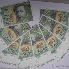 Lotes de Billetes: 8 BILLETES SEGUIDOS DE 1000 PESETAS DEL 12 DE OCTUBRE DE 1992. Lote 41003675