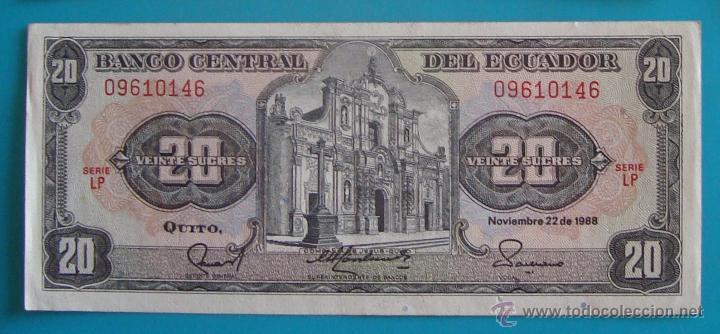 Lotes de Billetes: 7 BILLETES ANTIGUA MONEDA ECUADOR DESDE 5 A 1000, SUCRE MONEDA USADA ANTES DE LA DOLARIZACION - Foto 4 - 41130264