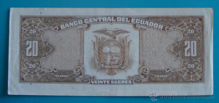 Lotes de Billetes: 7 BILLETES ANTIGUA MONEDA ECUADOR DESDE 5 A 1000, SUCRE MONEDA USADA ANTES DE LA DOLARIZACION - Foto 12 - 41130264