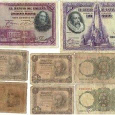 Lotes de Billetes: LOTE DE BILLETES ESPAÑOLES. Lote 43562673