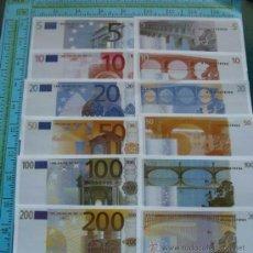 Lotes de Billetes: COLECCIÓN FACSÍMILES LOTE. 6 BILLETES DE EURO. 5, 10, 20, 50, 100, 200 EUROS. FACSIMIL. . Lote 155774520