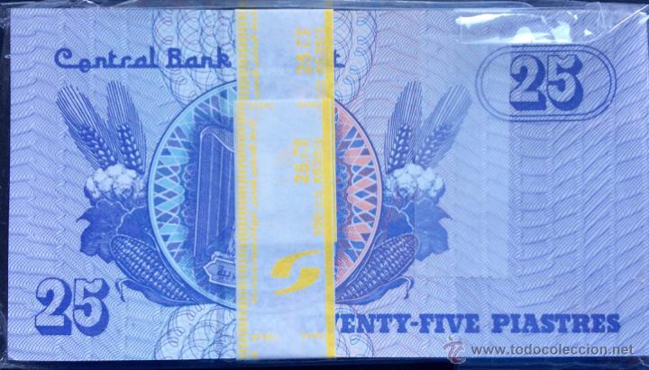 Lotes de Billetes: Lote 100 billetes 25 piastras Egipto - Foto 2 - 121419706